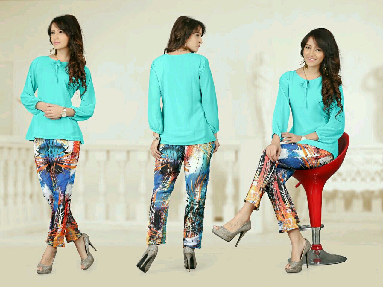 Sensation 2 – Digital Printed Pants With Dyed Tops Wholesale