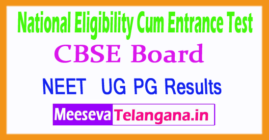 National Eligibility cum Entrance Test NEET Result 2018