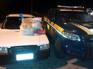 Marginal é detido pela PRF com 50kg de explosivos no Agreste
