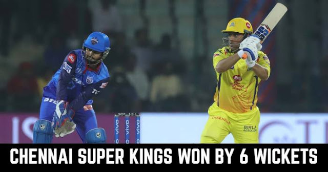 Chennai Super Kings won by 6 Wickets