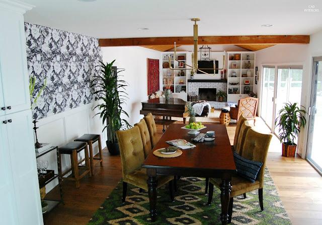 open concept layout floor plan great room interior design