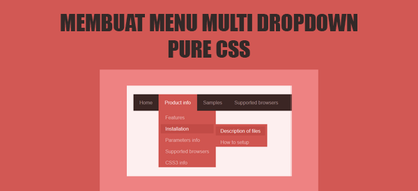 Membuat Menu Dropdown dengan CSS di Blog