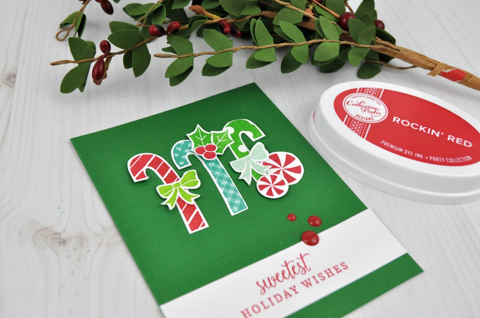 Catherine Pooler stamped Christmas Card with Jen Gallacher. #stamping #catherinepooler #christmascard #jengallacher