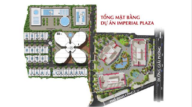 Mặt bằng tổng thể dự án Imperial Plaza