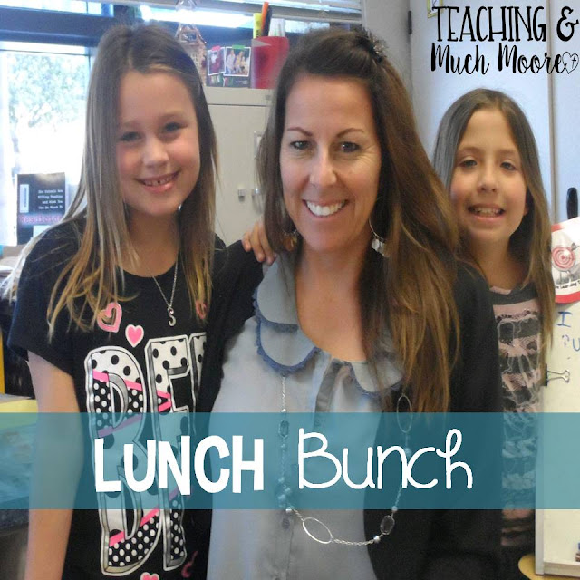 incorporate a lunch bunch into your week to build relationships with your students.