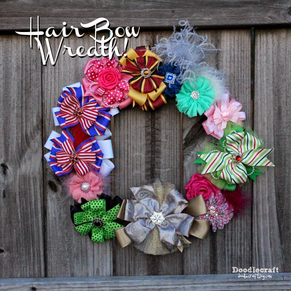 Doodlecraft Hair Bow Wreath