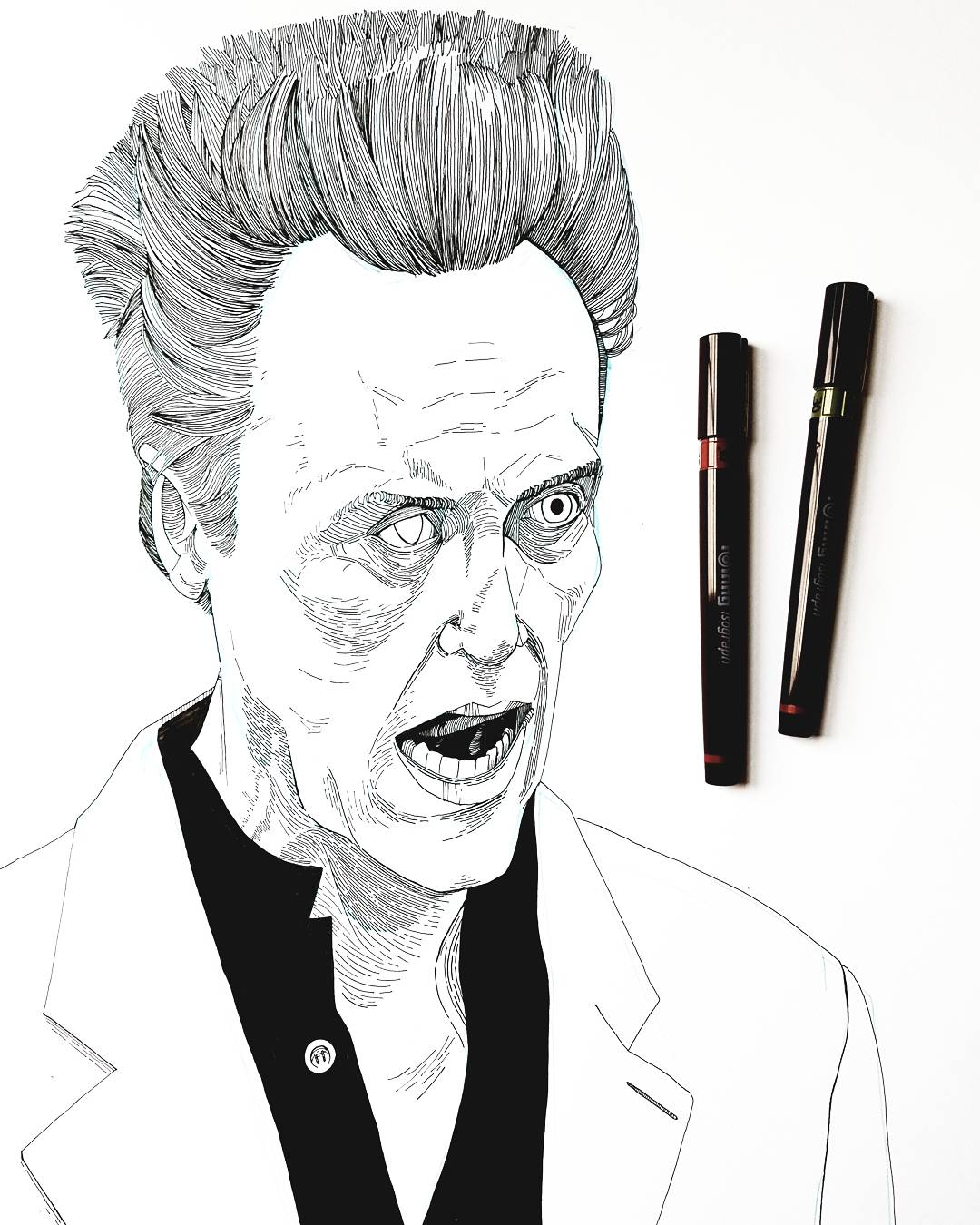 Christopher Walken drawing
