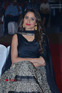 Actress Pragya Jaiswal Stills in Black Dress at Om Namo Venkatesaya Audio Launch Event  0020.JPG