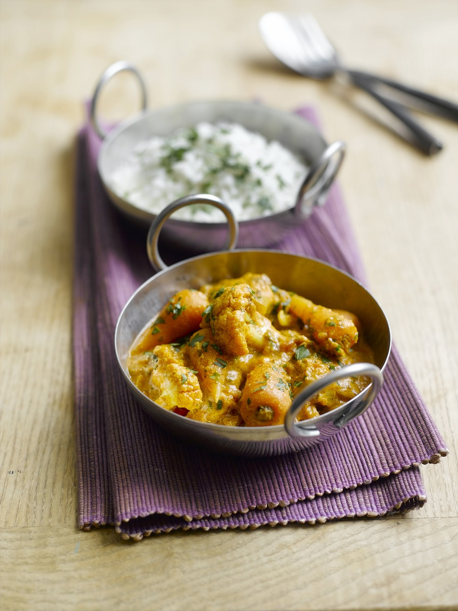 Quick Chantenay And Cauliflower Curry