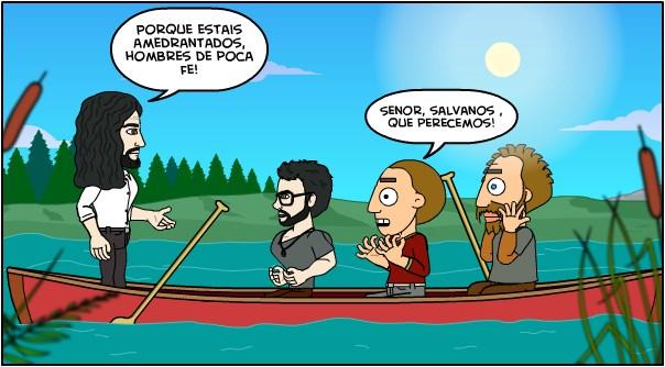 Jesús no dejara hundir tu barca