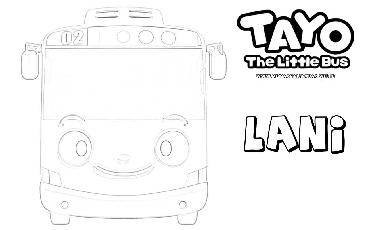 Mewarnai Gambar Karakter Lani Tayo The Little Bus