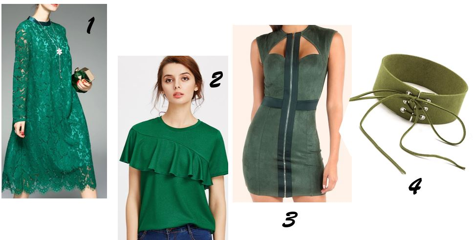 Yeşil giysiler, yeşil elbise, yeşil bluz, yeşil detaylar