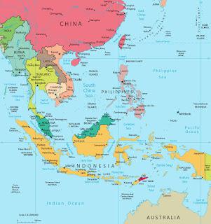 peta kawasan asean atau asia tenggara