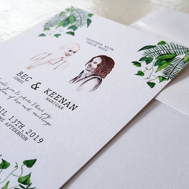 CUSTOM ART WEDIDNG INVITATIONS STATIONERY DECOR MELBOURNE
