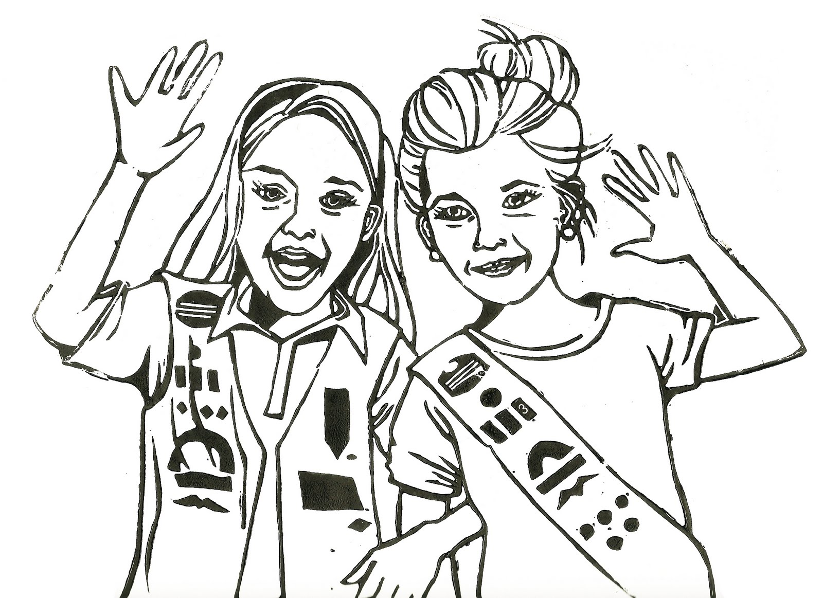 Lissartori girl scouts for Girl scout coloring page