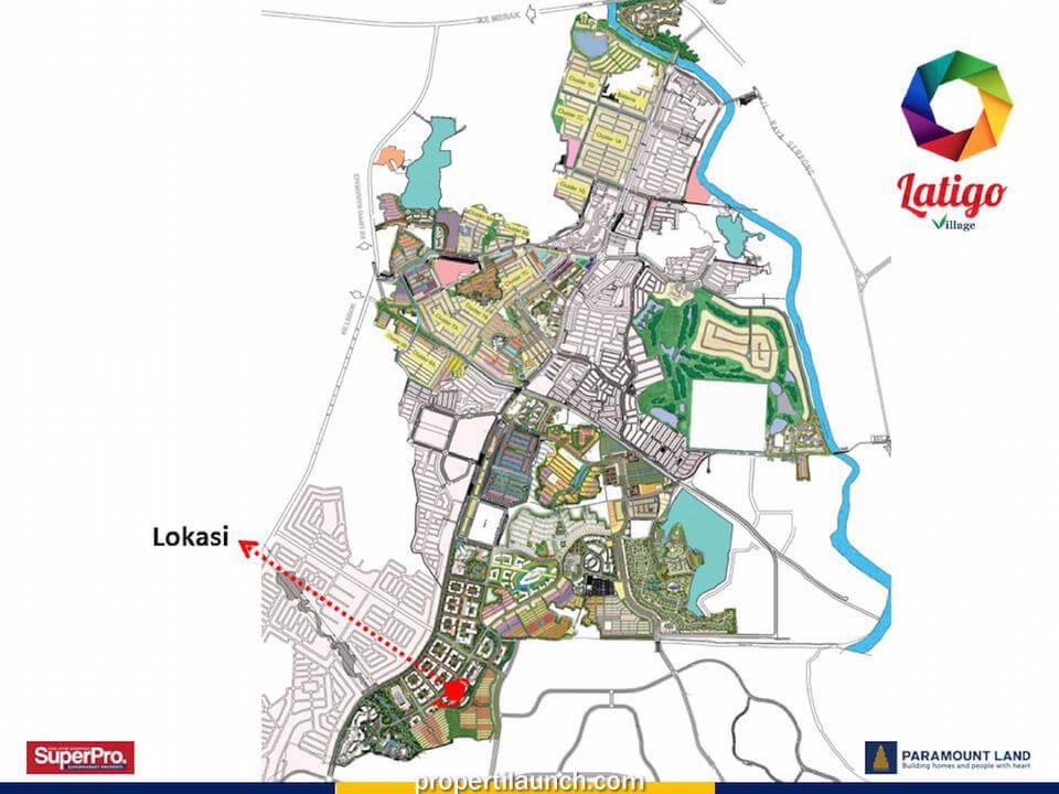 Peta Lokasi Cluster Latigo Village