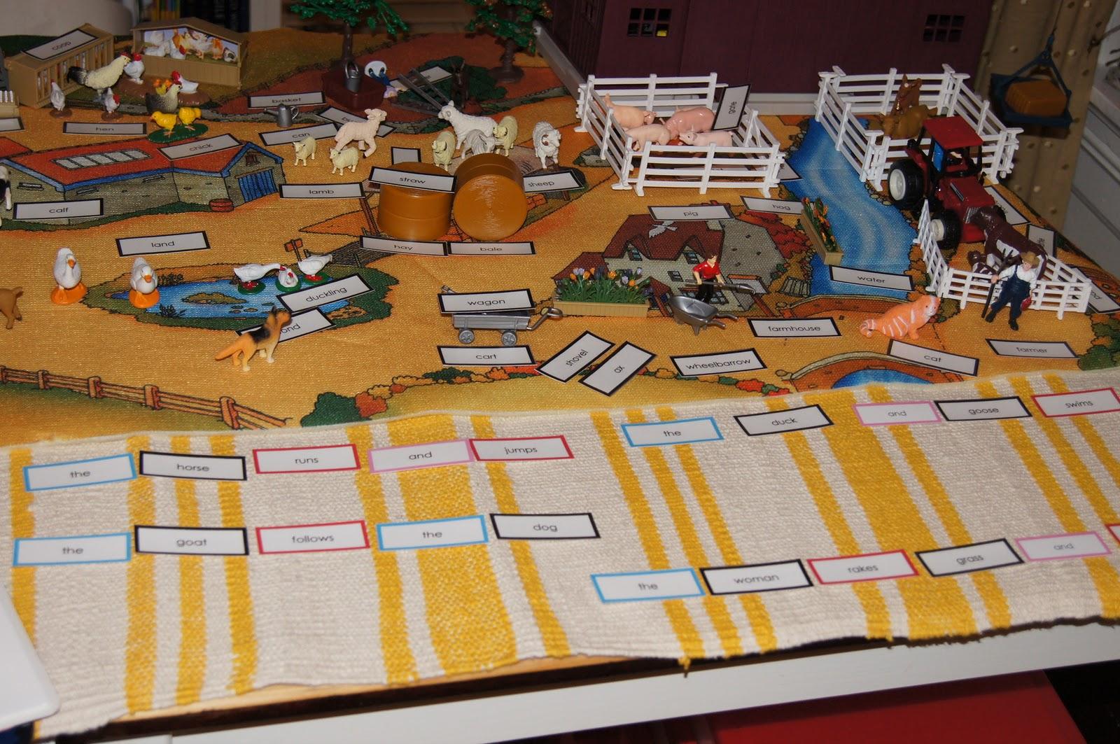Montessori Grammar Farm (Photo from Making Montessori Ours)