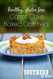 Healthy Carrot Cake Baked Oatmeal Recipe Gluten Free
