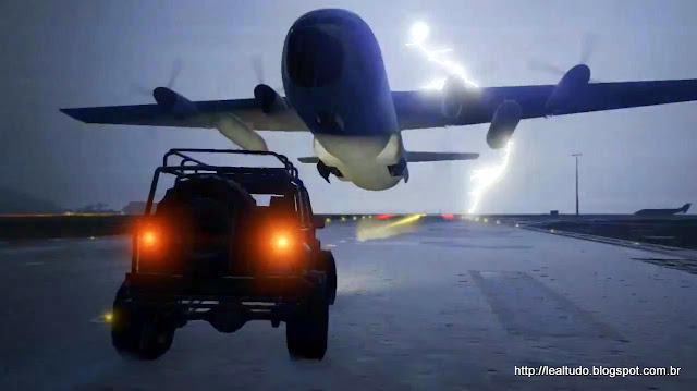 Grand Theft Auto Online Plane Jeep Thunder Airport - Raio Aeroporto Aviao
