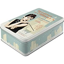 Nostalgic-Art 30713 - Caja decorativa metálica, 23 x 16 x 7cm, diseño Breakfast at Tiffany´s