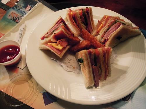 Club sandwich at Pousada Marina Infante Hotel