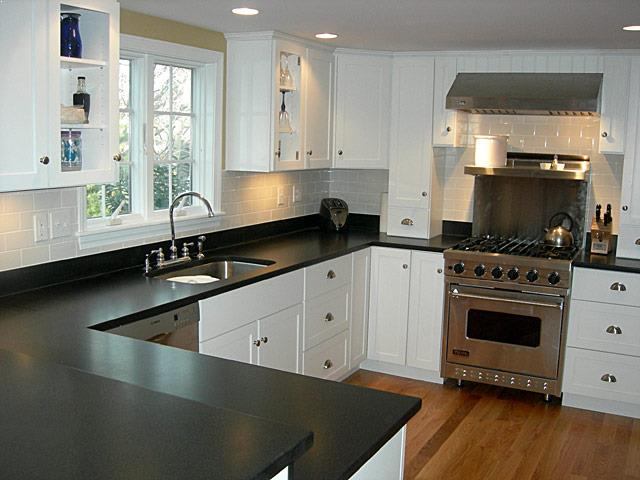 Kitchen Remodel Ideas Small Kitchens Pictures With White Cabinets To  Ceiling Black Granite Countertops, Stainless