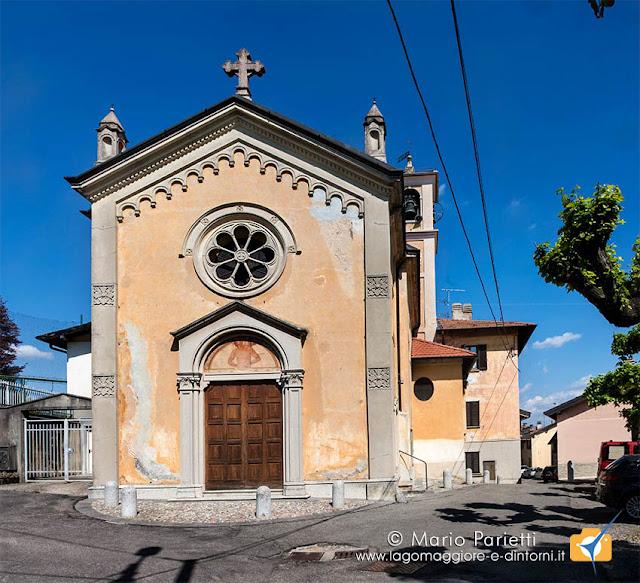 Vista esterna della chiesa di Bregazzana