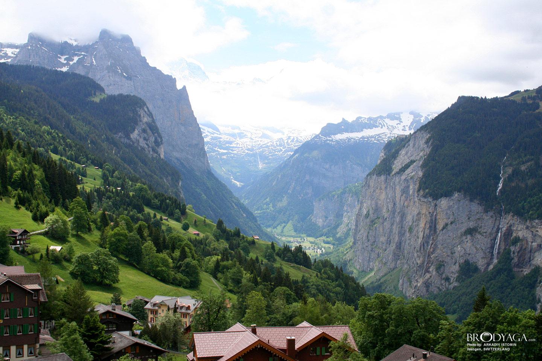 Dream Village Wengen Switzerland Landscape Arts