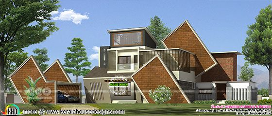 Modern modern 5 bedroom house plan