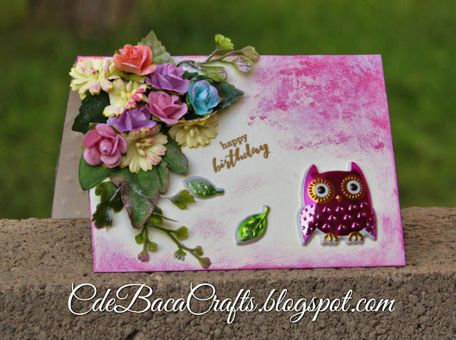 Cute example of a handmade card by CdeBaca Crafts Blog
