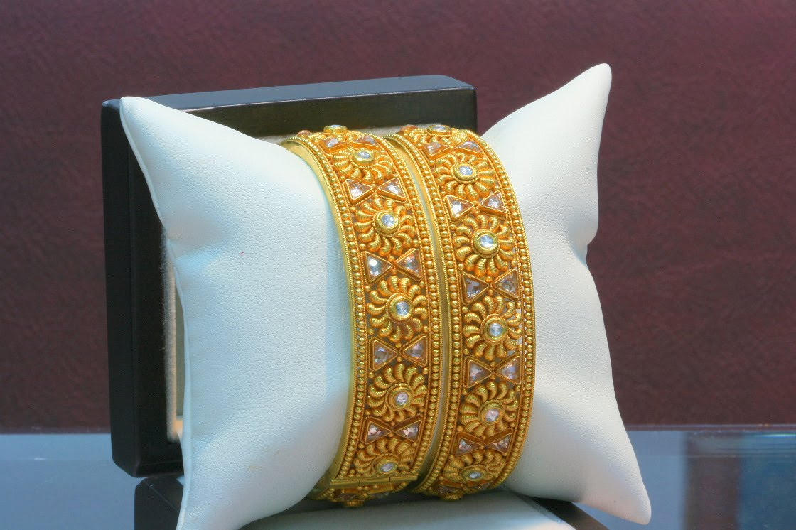 Indian Jewellery And Clothing Latest Antique Gold Bangle
