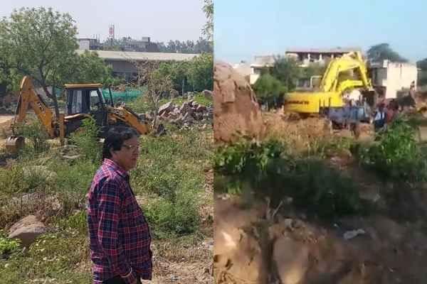 faridabad-aravali-illegal-mining-video-sanskrit-farm-house-ankheer-village
