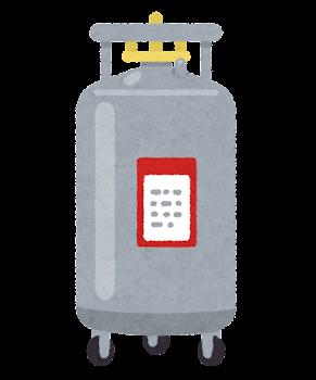 液体窒素のタンクのイラスト1