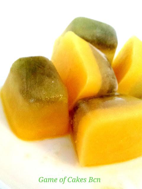 Cubitos de Hielo de Té Matcha Helado y Naranja