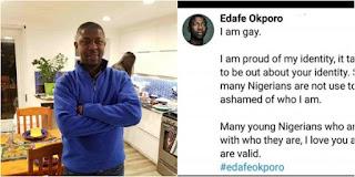 I AM GAY!!! Us Based Nigerian Activist 'Edafe Okporo' Opens Up