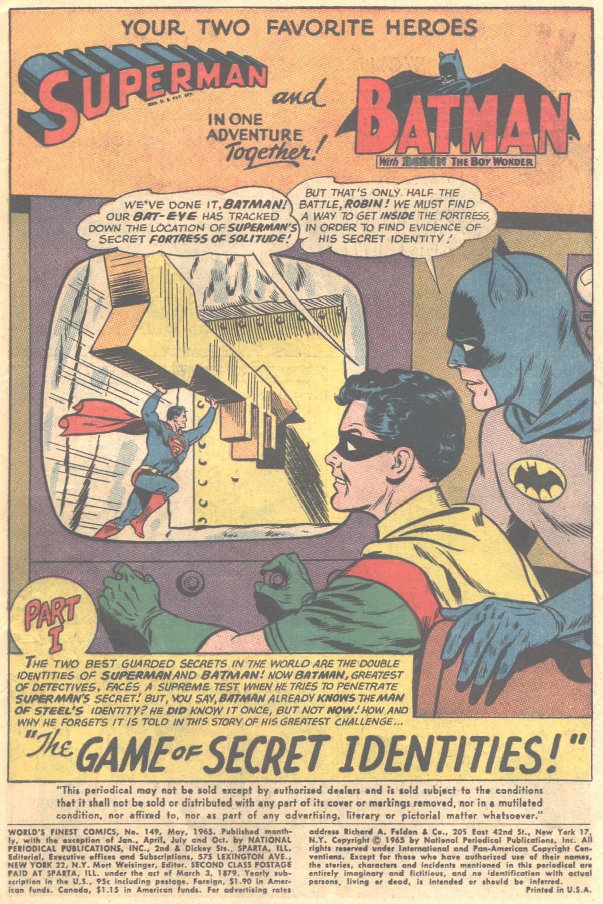 Read online World's Finest Comics comic -  Issue #149 - 3