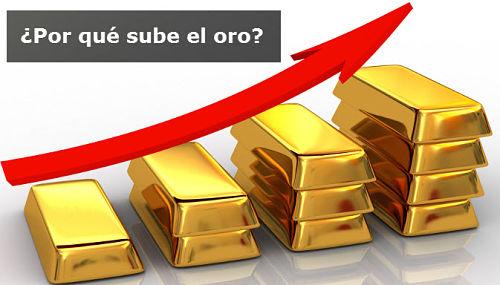 ¿Por qué esta subiendo oro?