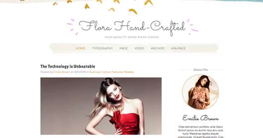 Flora Hand-crafted Responsive Blogger Template