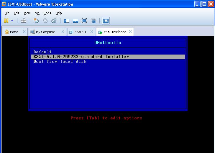 Boot from a USB Flash Drive in VMware Workstation