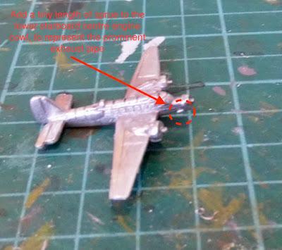 Ju 52 Tante Exhaust Plane 1/600 Tumbling Dice Conversion Scratchbuild