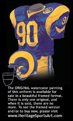 Los Angeles Rams 1988 uniform - St. Louis Rams 1988 uniform