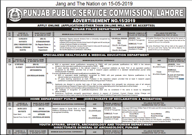Government jobs in Pakistan 2019 Latest (PPSC)