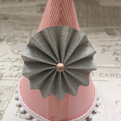 Rosette embellishment for  Party hats.  Free Silhouette Design of the Week project by Nadine Muir for UK Silhouette Blog