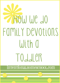 How to do devotionals with a toddler