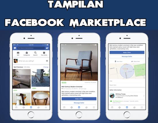 Tampilan Aplikasi Facebook Marketplace