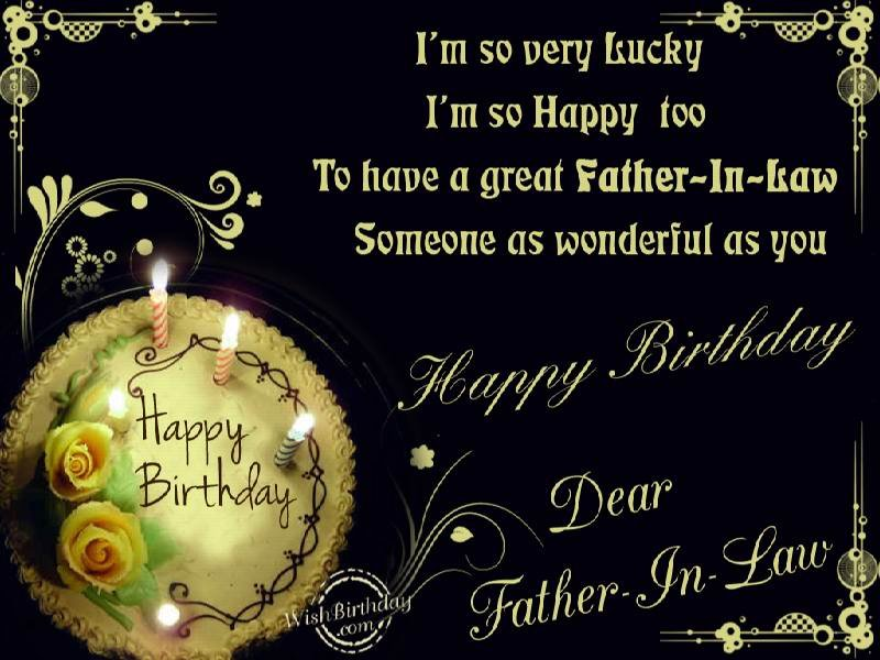 30 images happy birthday wishes quotes for fatherinlaw and – Happy Birthday Card for Father