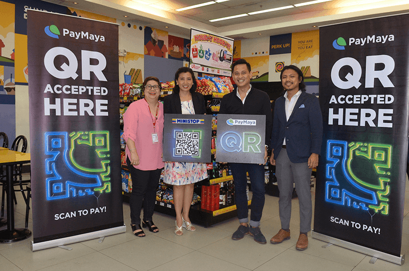 PayMaya QR at Ministop to boost cashless payments