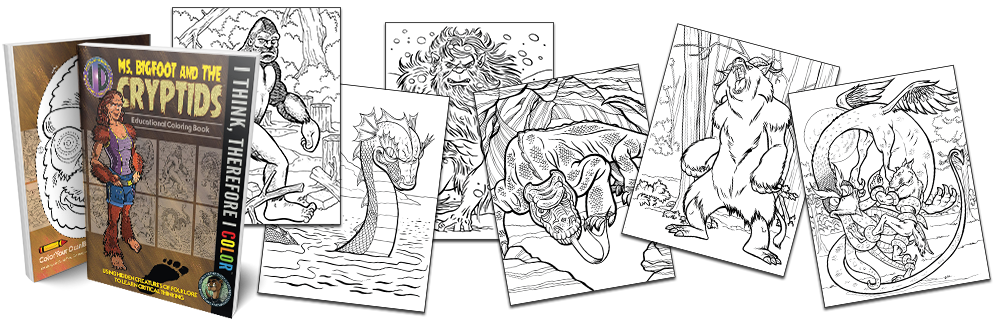 Intelligent Designs Ms Bigfoot The Cryptids Educational Coloring Book Now Available