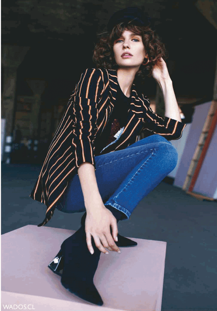 blazer mujer rayado 2019