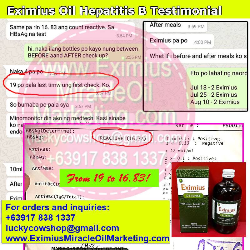 eximius oil hepatitis b review effective